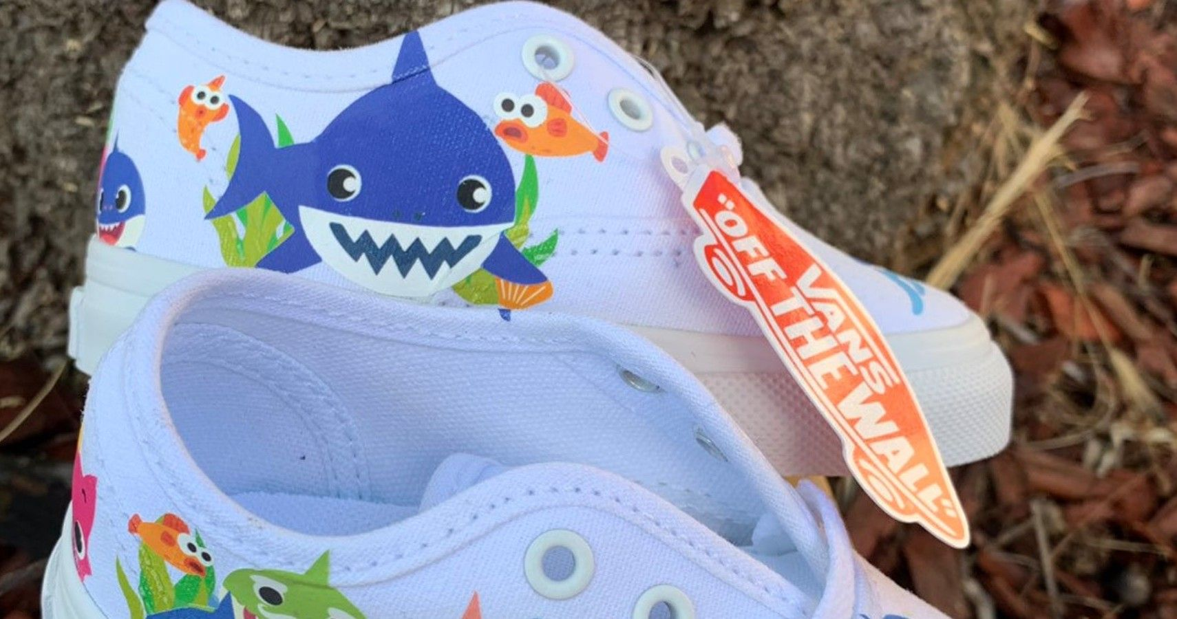 723dd6a3ae092 Baby Shark' Custom Shoe Line For Babies and Kids Available On Etsy
